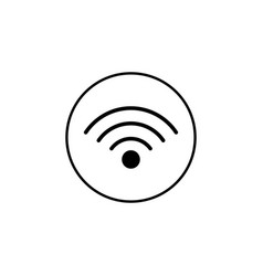 wifi solid icon mobile sign and hotspot vector image vector image