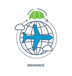- insurance services of travel vector