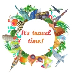 Travel Time Round Composition vector image