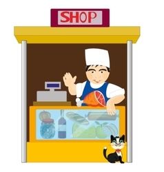 Small grocery shop vector