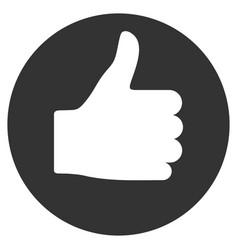 Thumb up flat icon vector