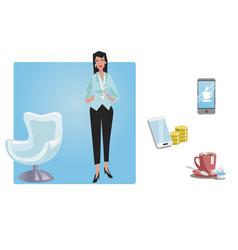 Businesswoman office worker employee manager vector