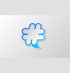 White hashtag twitter icon vector