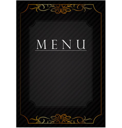 Black postcard with patterns vector