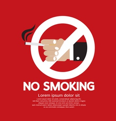 No smoking eps10 vector