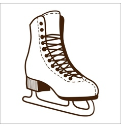 Ice skates isolated on white vector image