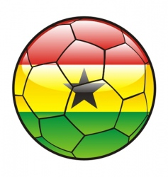 Flag of ghana on soccer ball vector