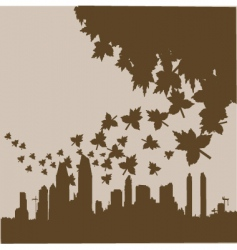 City to nature vector