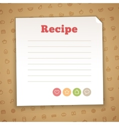 Blank recipe card template vector