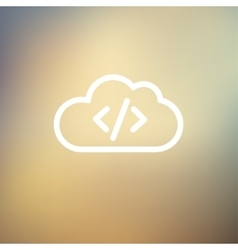 Transferring files cloud apps thin line icon vector