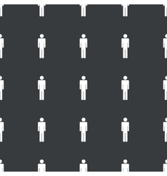 Straight black man pattern vector