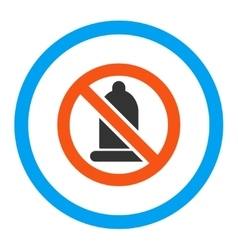 Forbidden Condom Rounded Icon vector image