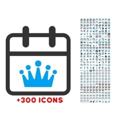 King date icon vector