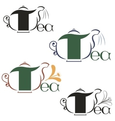 Labels on the theme of tea vector