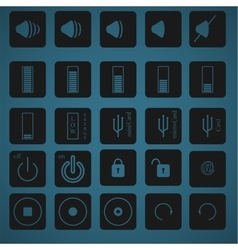 Icon set 3 vector