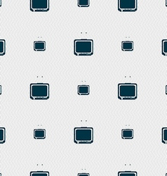 Tv icon sign seamless pattern with geometric vector