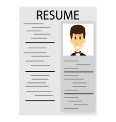 Resume for employment vector image