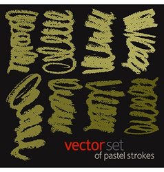 Pastel strokes set 1 vector