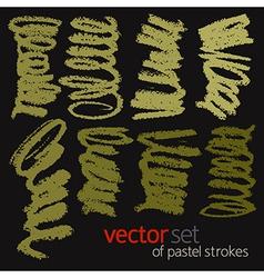 Pastel strokes set 1 vector image