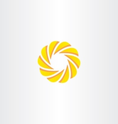Abstract business circle element logo yellow icon vector