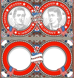 American vintage patriot wedding invite vector