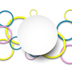Background with paper circles vector image vector image