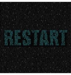 Blue restart code background vector