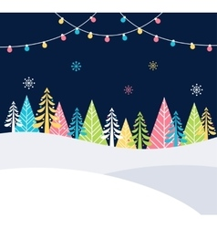 Christmas and Winter Holidays Events Festive vector image