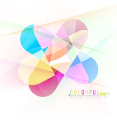 Colorful curve vector