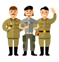 Communist group flat style colorful vector