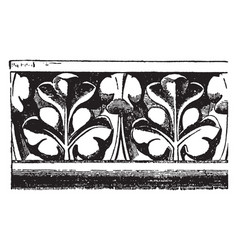 Cornice molding from notre dame paris ledge vector