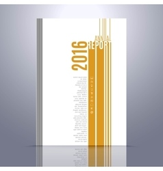Design template for annual report book vector