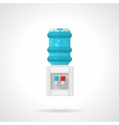 Electric water cooler flat icon vector image vector image