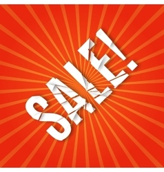 explosion with sale text vector image