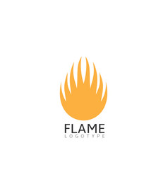flame symbol vector image