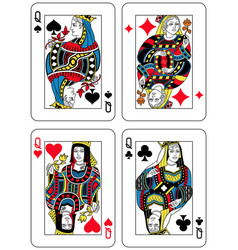 Four queens french inspiration vector