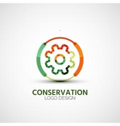 Gear company logo business concept vector