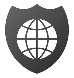 Global shield gradient icon vector
