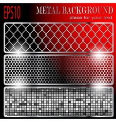 metallic backgrounds vector image vector image
