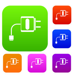 Mini charger set collection vector