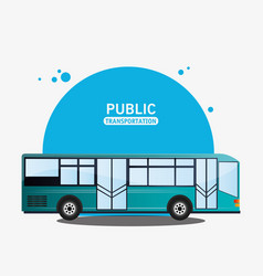 public transport bus modern vector image