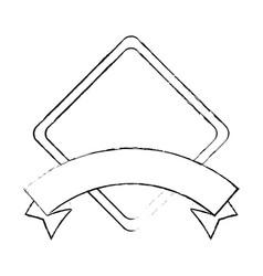 Rhombus frame icon vector