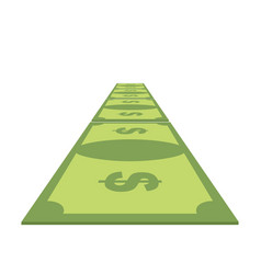 road out of money wealth path of cash dollar path vector image