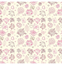 Seamless wedding patterns vector image