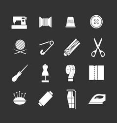 Set icons of sewing vector image