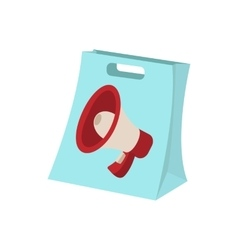 Shopping bag icon cartoon on white vector image