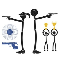 Sports shooting vector image