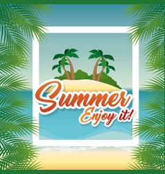 Summer beach design vector