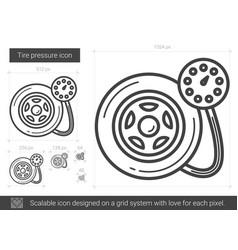 tire pressure line icon vector image