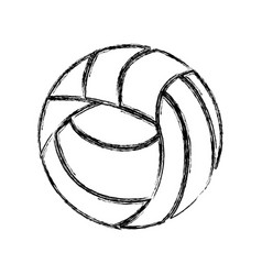 Voleyball ball equipment vector